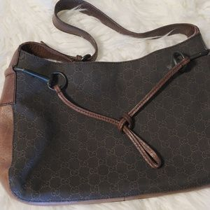 Gucci Canvass Horsebit Hobo Authentic